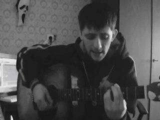 """Песня под гитару """"Щемит в душе тоска"""""""